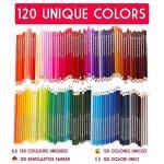 120 crayons de couleur avec boîte en métal Zenacolor - 120 couleurs uniques - Rangement facile avec 3 différents étuis - Set idéal pour artistes, adultes et enfants de la marque Zenacolor image 1 produit
