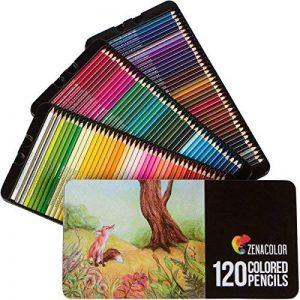 120 crayons de couleur avec boîte en métal Zenacolor - 120 couleurs uniques - Rangement facile avec 3 différents étuis - Set idéal pour artistes, adultes et enfants de la marque Zenacolor image 0 produit