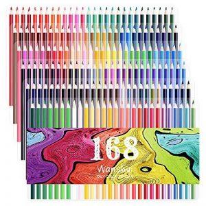 168 Crayons de couleur - 168 comptez Pré-affûtée Couleurs vives (pas de Doublons) Art Dessin Ensemble de crayons de couleur pour des livres de de la marque image 0 produit