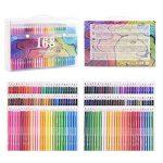 168 Crayons de couleur - 168 comptez Pré-affûtée Couleurs vives (pas de Doublons) Art Dessin Ensemble de crayons de couleur pour des livres de de la marque image 1 produit