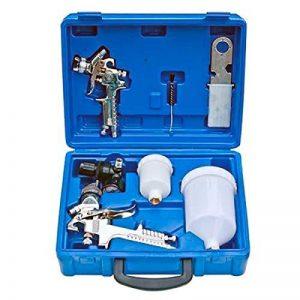 2x pistolets à peinture HVLP pour compresseur à air à peinture avec mallette de la marque Sin marca image 0 produit