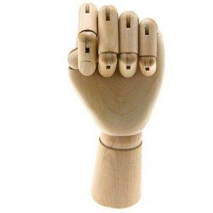 25,4cm Mannequin en bois Main gauche Modèle artistes du corps articulé de la marque SGerste image 0 produit