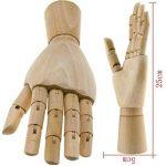 25,4cm Mannequin en bois Main gauche Modèle artistes du corps articulé de la marque SGerste image 1 produit
