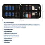41PCS kit de dessin pro avec Crayons Fusain, crayon de couleur aquarellable, crayon graphite et accessoire dessin dans une grosse trousse, Idéal Cadeaux pour étudiant Artiste Adulte Enfant de la marque TvFly image 1 produit