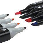 80 couleurs marker pen marqueurs à double pointes marqueur graphique art deux pointes pinceau croquis peints à la main conception d'animation série avec sac de la marque JINXIULL image 1 produit