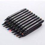 80 couleurs marker pen marqueurs à double pointes marqueur graphique art deux pointes pinceau croquis peints à la main conception d'animation série avec sac de la marque JINXIULL image 2 produit