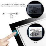 A3 LED Tables lumineuses, Yaufey Ultra Mince LED Lumière Luminosité Réglable Portable Pad Boîte de Signalisation Lumière pour l'artiste Dessin Animation, Design View X-Rays, 10 Niveaux de Luminosité de la marque Yaufey image 2 produit