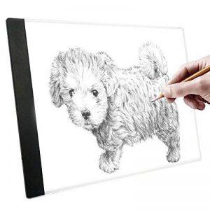 A4 LED Table À Dessin Art Tablette Lumineux Graphique Pad Plaque De Dessin Avec USB Câble Pour Enfants Artistes de la marque Yosoo image 0 produit