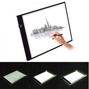 A4 LED Table à Dessin, Tablette Lumineuse Professionnelle Ultra Plat Avec 3 Types de Luminosité Réglable Table pour Déssinateur Idéal Pour Artiste Dessin Copier Décalquer Pochoir Tatoué Esquisse et le Travail de Photo de la marque PoWise image 0 produit