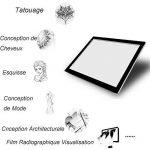 A4 LED Table à Dessin, Tablette Lumineuse Professionnelle Ultra Plat Avec 3 Types de Luminosité Réglable Table pour Déssinateur Idéal Pour Artiste Dessin Copier Décalquer Pochoir Tatoué Esquisse et le Travail de Photo de la marque PoWise image 2 produit