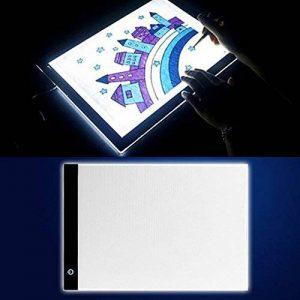 A4 LED Tables lumineuses Light Trace Pad, InGoo Copy Luminosité Tablette Table de traçage Light Box pour Pochoir Arts Dessiner Animation Esquisser Tatouage Architecture désign Câble USB de la marque InGoo image 0 produit
