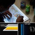A4 LED Tables lumineuses Light Trace Pad, InGoo Copy Luminosité Tablette Table de traçage Light Box pour Pochoir Arts Dessiner Animation Esquisser Tatouage Architecture désign Câble USB de la marque InGoo image 4 produit