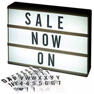 A4 lumière LED BOITE cinématographique Tableau à messages avec 84 caractères lettres, nombres et symboles de la marque URBNLIVING image 0 produit