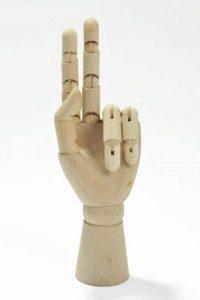 Abakus Artista: Modèle de main / Mannequin d'une main articulé en bois 17cm - 17cm, AMH-17cm FR de la marque Quantum Abacus image 0 produit
