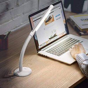 Aglaia Lampe de table rechargeable, 3 W Lumière LED Intensité variable Touch avec 3 niveaux de luminosité pour lecture et étude, Cou Flexible. (LT-T16) de la marque Aglaia image 0 produit