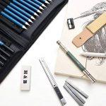 AGPTEK 41PCS Crayons Croquis (avec 1 Carnet à Dessin), Crayons Dessin Crayons de Fusain Graphite Comprenant Bâtonnets, Couteau, Extenseur, Taille-crayons et Pochette de Transport Pratique, Idéal pour Débutant et Professionnel de la marque AGPTEK image 4 produit