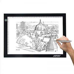 AGPtek LEGERE Tablette Lumineuse - LED Pad Pour Dessiner - Plaque Avec Luminosité Réglable (A4-new) de la marque AGPTEK image 0 produit