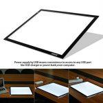 AGPtek LEGERE Tablette Lumineuse - LED Pad Pour Dessiner - Plaque Avec Luminosité Réglable (A3) de la marque AGPTEK image 5 produit