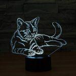 Ahat Chat 3D Visualisation Bulbling Chambre Lumière / Illusion Optique Lampe de Bureau / Lumineux Transparent Acrylique LED Lampe de Table pour Chambre à coucher Chambre à coucher Décor / Holiday cadeau d'anniversaire, Touch-Control USB-Charging avec base image 2 produit
