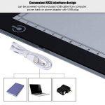 Aibecy Huion L4S Table Lumineuse 15 pouce A4 Ultra-mince Portable LED Light Reglable Box Pour Dessiner USB Alimenté pour dessin animé Traceur de tatouage Dessin au crayon de la marque HUION image 5 produit