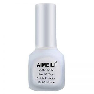 AIMEILI Liquide Latex Tape Peel Off Base Coat Correcteurs de Vernis à Ongles Protection de la Peau et des Doigts pour Nail Art Manucure Inodore 15 ML Blanc de la marque AIMEILI image 0 produit