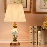 ALUK-Nice table lamp Américain style minimaliste résine lampe en tissu de corps léger E27 bouton lampe de table interrupteur, lampe de table décorée à la pièce (Couleur : B) de la marque ALUK-Nice table lamp image 2 produit