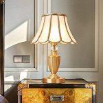 ALUK-Nice table lamp Lampe de table en cuivre américaine chambre à coucher crépuscule simple lampe de table européenne de luxe moderne de la marque ALUK-Nice table lamp image 3 produit