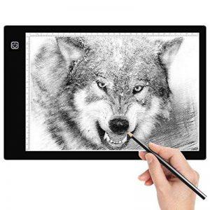 Amzdeal Tablette Lumineuse A4 avec 6 Niveaux Réglables de Luminosité LED 5mm Ultre-Mince avec Cable USB pour Croquis Esquisse Architecture Calligraphie de la marque Amzdeal image 0 produit