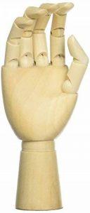 Art à la main de mannequin–en bois compartimentée Opposable à la main Figure–Idéal pour le dessin, croquis, peinture, et bien plus encore–La Main droite–8,9x 30,5cm de la marque Juvale image 0 produit