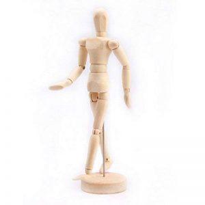 articulations humaines en bois mannequins (22cm) de la marque PP image 0 produit