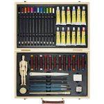 Artina - Boite Mallette pour artiste Leonardo - Ensemble complet de 45 pcs - Peinture acrylique, crayons, pastels de la marque Artina image 6 produit