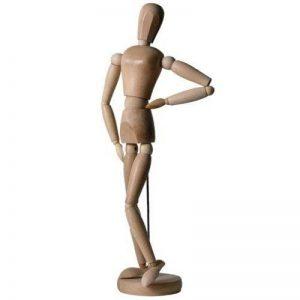 Artina Modèle Dali de dessin - Figurine pour esquisse - Mannequin proportion humaine position réglable - En bois - 20cm de la marque Artina image 0 produit