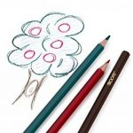 Assortiment de 48 crayons de couleurs pré-taillés haut de-gamme aux couleurs vives, pour adultes et enfants avec un taille-crayon gratuit KUM en alliage métallique dans une pochette dépliante en toile de la marque Moore image 3 produit