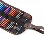 Assortiment de 48 crayons de couleurs pré-taillés haut de-gamme aux couleurs vives, pour adultes et enfants avec un taille-crayon gratuit KUM en alliage métallique dans une pochette dépliante en toile de la marque Moore image 5 produit