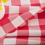 Asvert Nappe Rectangulaire Carreaux Toile Cirée Antitaches de Table pour Restaurant Salle à Manger, Rouge (140x220cm) de la marque Asvert image 2 produit