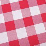 Asvert Nappe Rectangulaire Carreaux Toile Cirée Antitaches de Table pour Restaurant Salle à Manger, Rouge (140x220cm) de la marque Asvert image 3 produit