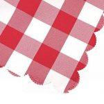 Asvert Nappe Rectangulaire Carreaux Toile Cirée Antitaches de Table pour Restaurant Salle à Manger, Rouge (140x220cm) de la marque Asvert image 5 produit