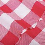 Asvert Nappe Rectangulaire Carreaux Toile Cirée Antitaches de Table pour Restaurant Salle à Manger, Rouge (140x220cm) de la marque Asvert image 6 produit