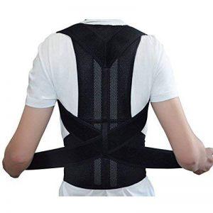 Bande Correction Dos Posture dos ajustable posture correcteur pour les hommes et les femmes épaule correction ceinture ceinture de support de la marque Yosoo image 0 produit