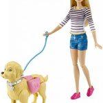 Barbie DWJ68 - Poupées - Balade Du Chien de la marque Barbie image 1 produit