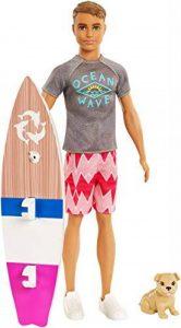 Barbie - FBD71 - Ken Surfeur et son chien de la marque Barbie (BAT2S) image 0 produit