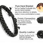 BESTEEL 12PCS Bracelets Cuir pour Homme Femme Unisexe Perle en Bois Corde Tressé Bracelet Manchette élastique de la marque BESTEEL image 3 produit