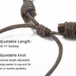 BESTEEL 12PCS Bracelets Cuir pour Homme Femme Unisexe Perle en Bois Corde Tressé Bracelet Manchette élastique de la marque BESTEEL image 4 produit
