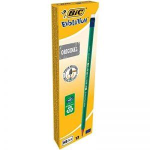 BIC Evolution Original avec Gomme Crayons à Papier - HB, Boîte de 12 de la marque BIC image 0 produit
