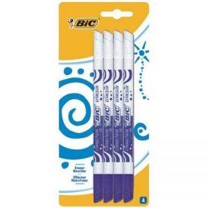 BIC Mini Effaceurs Réécriveurs - Encre Bleue, Blister de 4 de la marque BIC image 0 produit