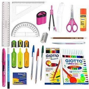 Blumie Shop Pack Eco Fournitures Scolaires 20 Pièces spécial Collège - Rose + 1 Stylo Bille Noir de la marque Blumie Shop image 0 produit