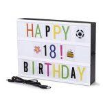 Boîte à lumière A4, boîte à lettres légère à LED avec 90pcs Black Letters, Lettres couleur 90pcs et 85pcs Lovely Emojis, inclus câble USB. de la marque UltraGood image 2 produit