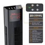 Brandson - Ventilateur colonne avec télécommande   Tour Fan   45W   3 vitesses   fonction oscillation 70°   LED-Display pour le Timer, la température ou de l'indicateur Oscillateur   programmable   3 Modi (Normal/Sleep/Natural)   Modèle 2018   Noir de la image 2 produit