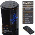 Brandson – Ventilateur colonne avec télécommande | Ventilateur colonne oscillant | 45W | 3 niveaux de vitesse (LOW / MEDIUM / HIGH) + minuterie + 3 modes de fonctionnement + oscillation 60 (commutable) | Ecran LED | Noir de la marque Brandson image 2 produit