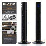 Brandson – Ventilateur colonne avec télécommande   Ventilateur colonne oscillant   45W   3 niveaux de vitesse (LOW / MEDIUM / HIGH) + minuterie + 3 modes de fonctionnement + oscillation 60 (commutable)   Ecran LED   Noir de la marque Brandson image 1 produit